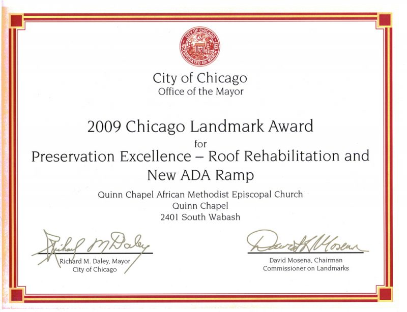 2009 Chicago Landmark Award